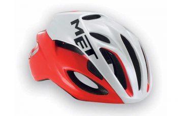 met-casco-helmet-rosso-bianco