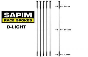 sapim-d-light raggi -straight-pull 34
