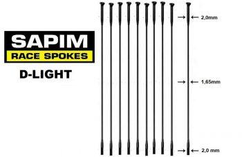 sapim-d-light raggi -straight-pull 65